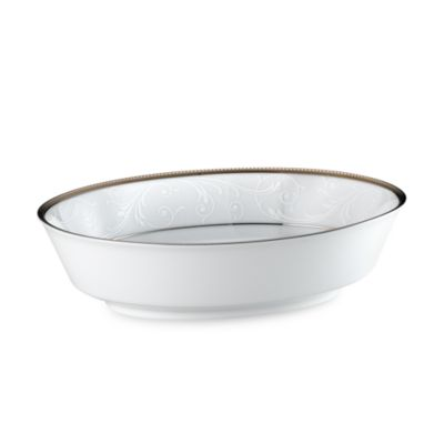 Noritake® Regina 10-Inch Oval Vegetable Bowl in Platinum