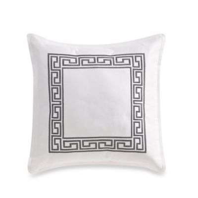 Greek Key Square Throw Pillow