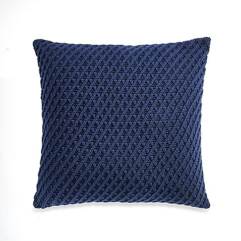 Buy Nautica Haverdale Knit Square Throw Pillow from Bed Bath & Beyond
