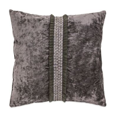 Michael Amini® Park Lane Pleated Reversible Square Throw Pillow