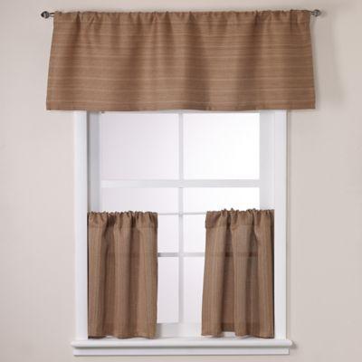 Crypton® Key Largo 36-Inch Window Curtain Tier Pair in Chocolate
