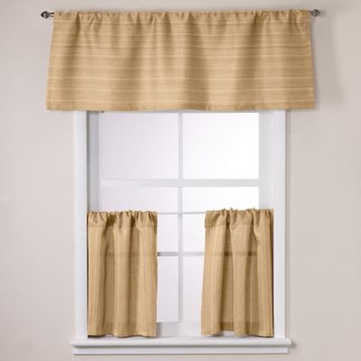 Crypton® Key Largo 24-Inch Window Curtain Tier Pair in Gold