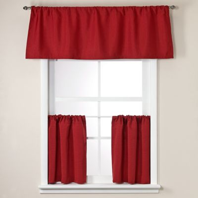 Crypton® Element 36-Inch Window Curtain Tier Pair in Red