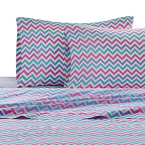 Buy Julissa Chevron Twin Sheet Set From Bed Bath Amp Beyond