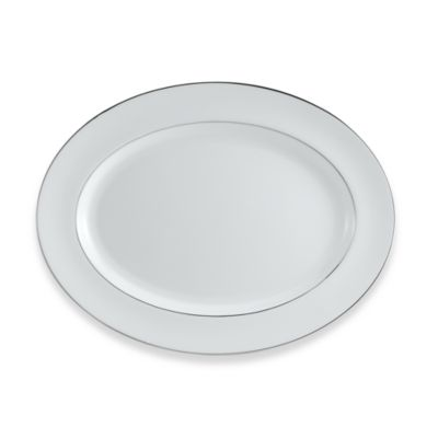 Wedgwood® Signet Platinum 13 3/4-Inch Oval Platter
