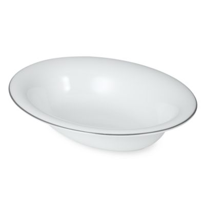 Wedgwood® Signet Platinum 9 3/4-Inch Oval Open Vegetable Bowl