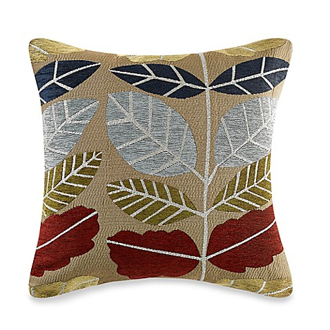 Myop Throw Pillow Covers : Buy MYOP New Leaf Square Throw Pillow Cover in Red from Bed Bath & Beyond