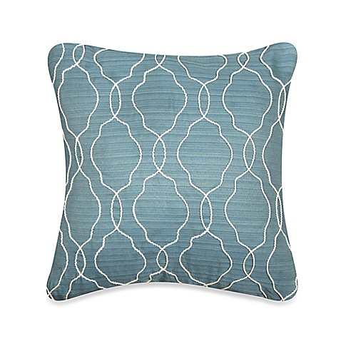 Myop Throw Pillow Covers : MYOP Keyhole Square Throw Pillow Cover in Blue - Bed Bath & Beyond