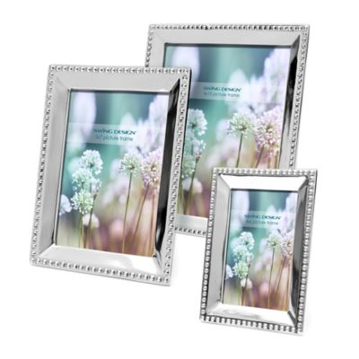 Swing Design™ Bead 5-Inch x 7-Inch Frame in Silver