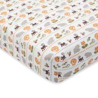 Lambs & Ivy® Treetop Buddies Fitted Crib Sheet