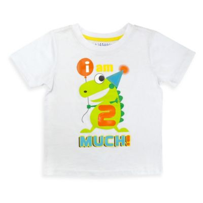 Kidtopia Size 2T I Am 2 Much T-Shirt in White