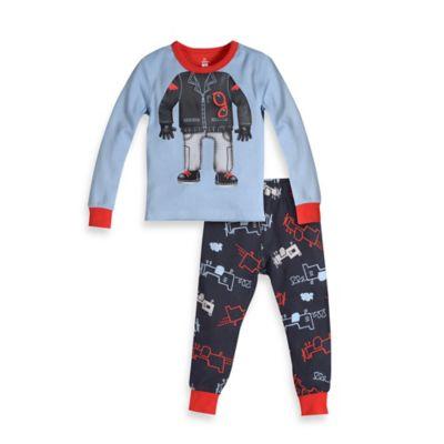 Petit Lem™ Size 18M 2-Piece Hippo Pilot PJ Set in Blue