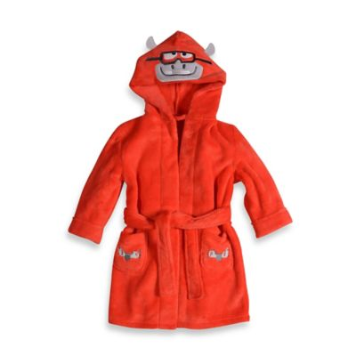 Petit Lem™ Size 12M Hippo Pilot Hooded Bathrobe in Red