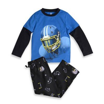 Petit Lem™ Size 2T 2-Piece Football PJ Set in Blue