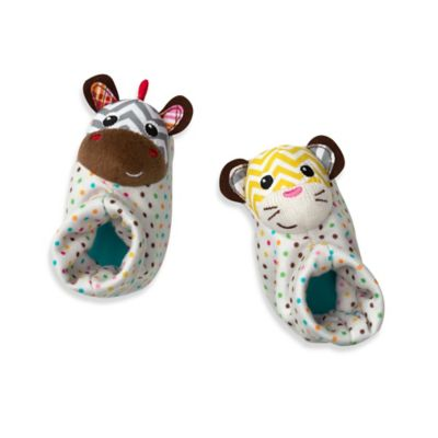 Infantino® Foot Rattles™ in Tiger/Zebra