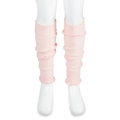 Jacques Moret Size 4-5T Rhinestone Accented Leg Warmers in Light Pink
