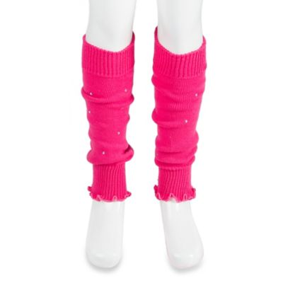 Jacques Moret Size 4-5T Rhinestone Accented Leg Warmers in Pink