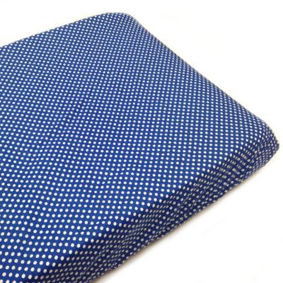 One Grace Place Simplicity Changing Pad Cover in Polka Dot Blue