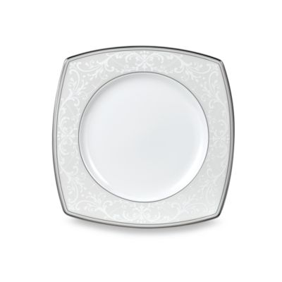 9 White Accent Plate
