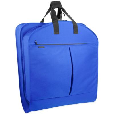 WallyBags® 40-Inch Suit Length Garment Bag with Pockets in Royal Blue