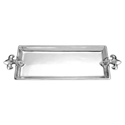 Arthur Court French Lily 21-Inch Oblong Tray