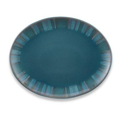 Denby Azure Coast 14-Inch Oval Platter