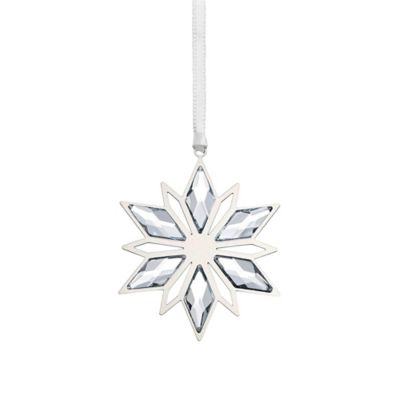 Silver Star Ornament in Swarovski® Crystal