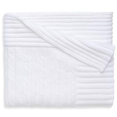 Elegant Baby® Classic Cable Blanket in White