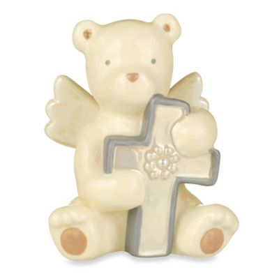 Grasslands Road® Bear Angel with June Faux Pearl Birthstone Cross
