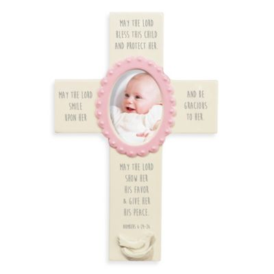 Grasslands Road® Many Blessings Cross Photo Frame in Pink