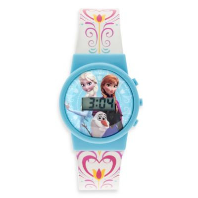 Disney® Frozen Musical LCD Watch with Sky Blue Case