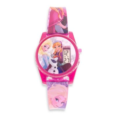 Disney® Frozen Musical LCD Watch with Dark Pink Jelly Case