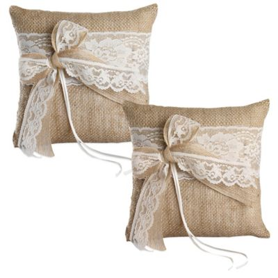 Ivy Lane Design Country Romance Ring Pillow in Ivory