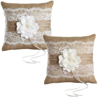Ivy Lane Design™ Rustic Garden Ring Pillow in Ivory