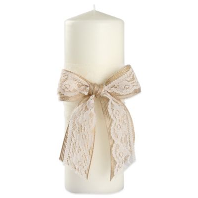 Ivy Lane Design Country Romance Pillar Candle in Ivory
