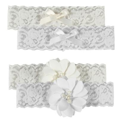 Ivy Lane Design™ Rustic Garden Medium Bridal Garter Set in White