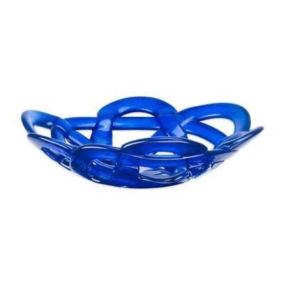 Kosta Boda Small Basket Bowl in Blue
