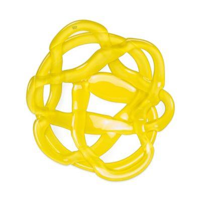 Kosta Boda Small Basket Bowl in Yellow