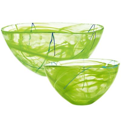 Kosta Boda Contrast Bowl in Lime