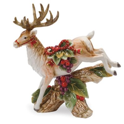 Fitz and Floyd® Regal Holiday Leaping Deer Candleholder