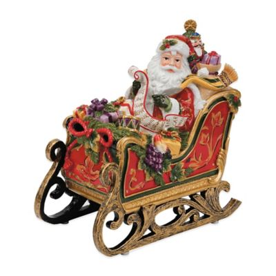 Fitz and Floyd® Regal Holiday Santa Sleigh Musical Figurine