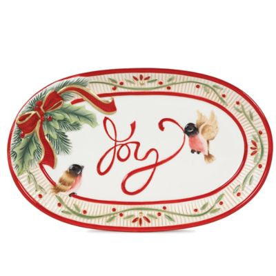 Fitz and Floyd® Regal Holiday Santa's Forest Friends 9-1/4-Inch Sentiment Tray