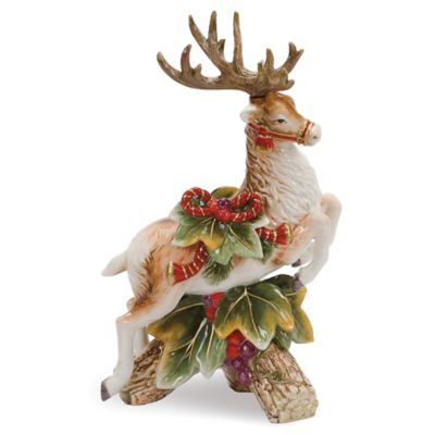 Fitz and Floyd® Regal Holiday 11-1/2-Inch Leaping Deer Candleholder