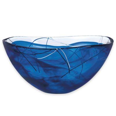 Kosta Boda Contrast 13 3/4-Inch Glass Bowl in Blue
