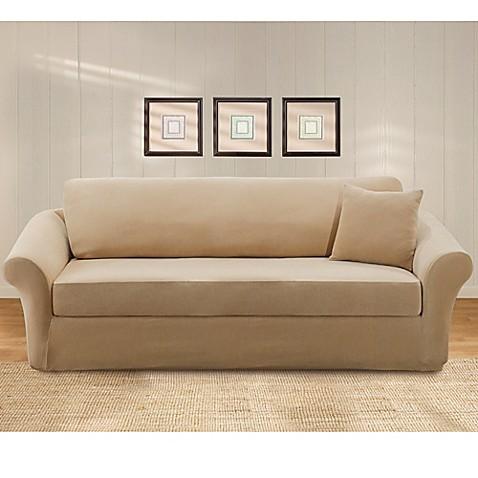 Sure Fit Stretch Pique 3 Piece Sofa Slipcover