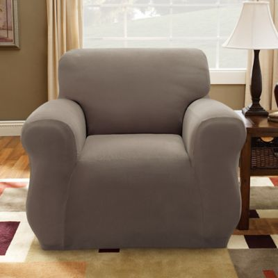 Sure Fit® Stretch Piqué Sofa Slipcover in Taupe