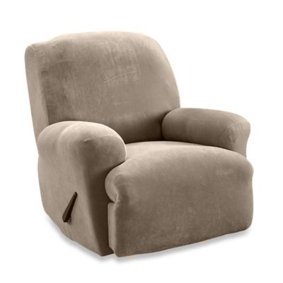 Sure Fit® Stretch Sterling Recliner Slipcover in Taupe