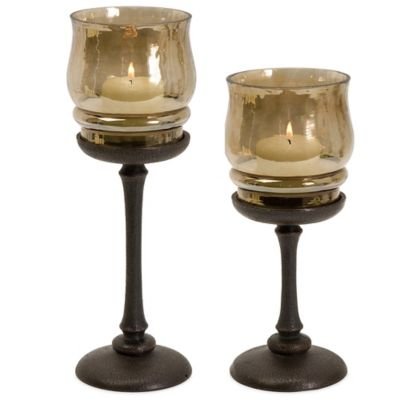Amber10-Inch Candleholder