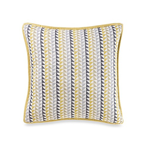 Nautica Shelford Square Throw Pillow in Yellow/Blue - Bed Bath & Beyond