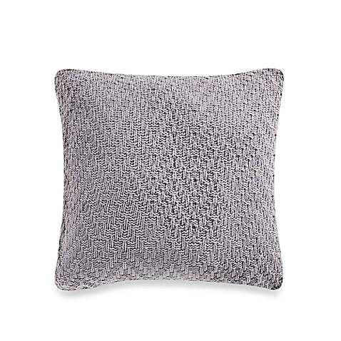 Grey Knit Throw Pillow : Nautica Shelford Chevron Knit Square Throw Pillow in Grey - Bed Bath & Beyond